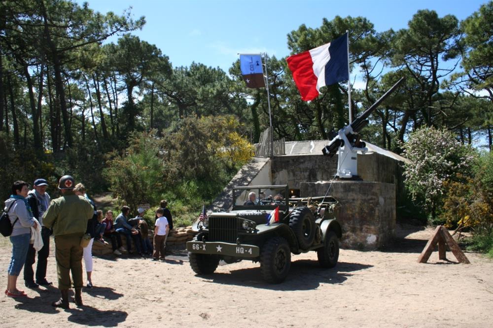 Ouverture du bunker musée Bego PLOUHARNEL Les Dames de Nage